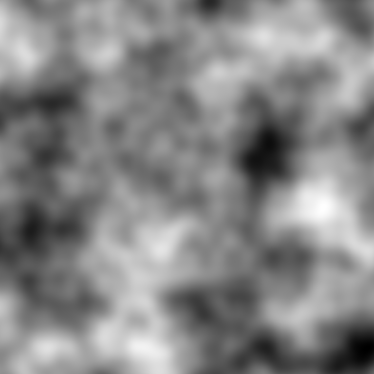 The same 2D Perlin Noise from before but with altered Frequency and Octave Count.